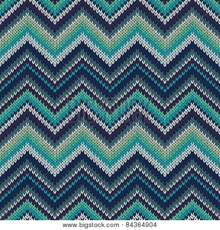 Style Seamless Knitted Pattern. Fashion Color Swatch