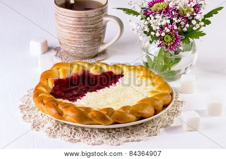 Jam And Cottage Cheese Pie