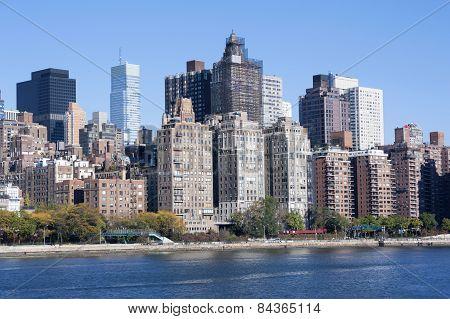 Manhattan Midtown Skyline At Sunrise New York City