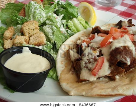 Canadian Donair On Pita Bread