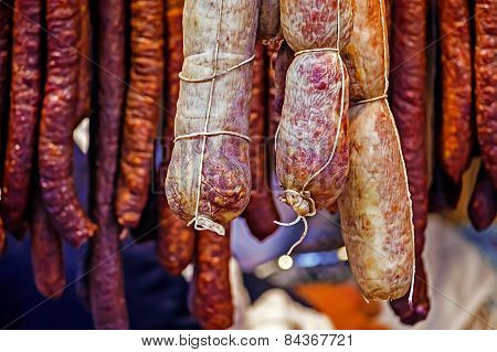 Romanian Sausages (carnati), Smoked And Dried