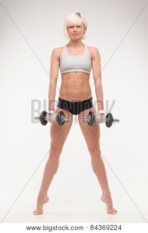 muscular body of a young girl