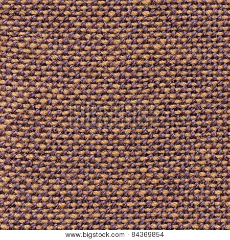 Brown, blue woven canvas fabric texture