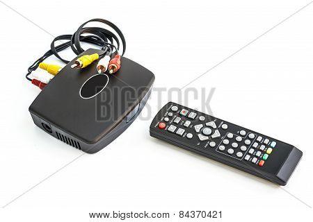 Digital Tv On White Background