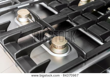 Stove burner of a modern kitchen
