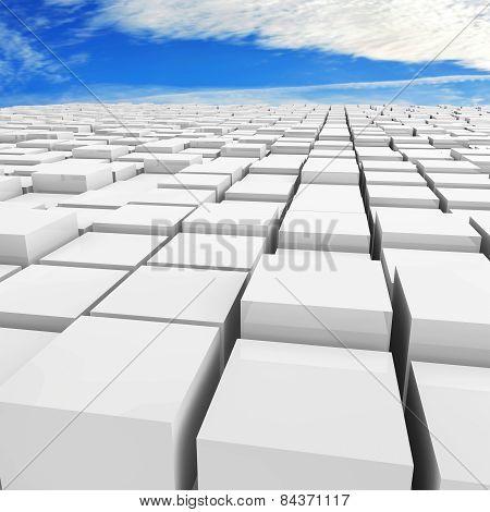 Cubes Background - 3D Rendered Illustration