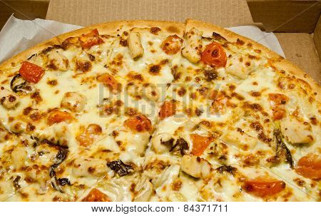 Hot, Tasty Pizza In Box