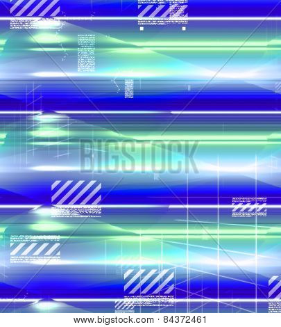 Glowing background, colorful blue, green, white and purple with built in light effect.
