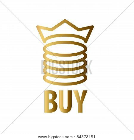 Vector Icon Gold Coins And Crown