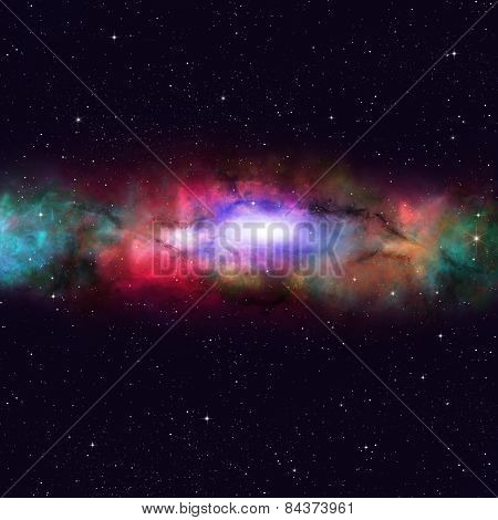 Space Multicolor Nebula