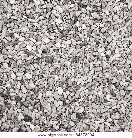 Gray Industrial Gravel, Square Background Texture