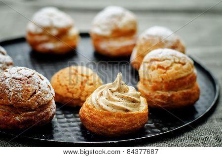 Profiteroles With Cream With Praline