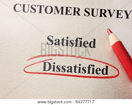 Dissatisfied Customer Survey