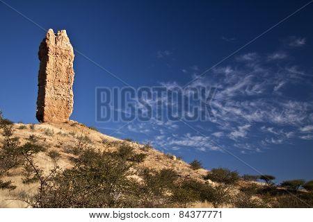 Vingerklipp rock finger in Damaraland in Namibia.