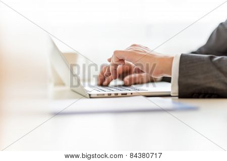 Composing Legal Document On Laptop Computer