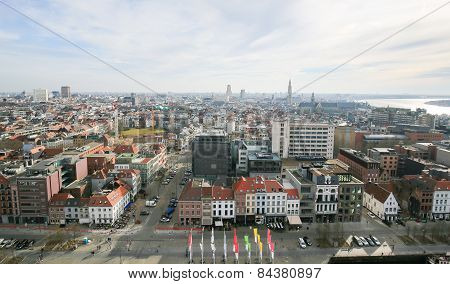 Panorama On Antwerp, Belgium