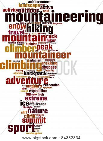 Mountaineering Word Cloud