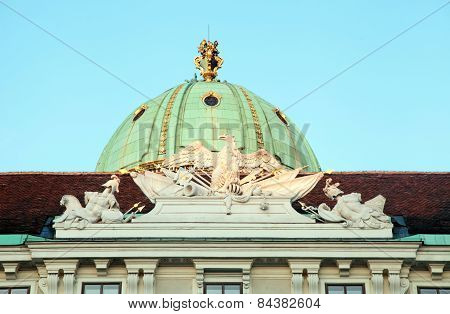 Detail Of Hofburg Imperial Palace In Vienna, Austria.