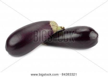 Fresh And Ripe Eggplant