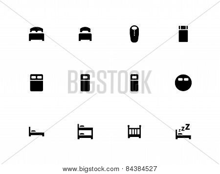 Bed icons on white background.