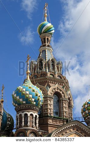 Domes of the Church of the Saviour on Spilled Blood