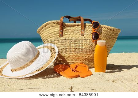 Sun Protection Gear On The Sand
