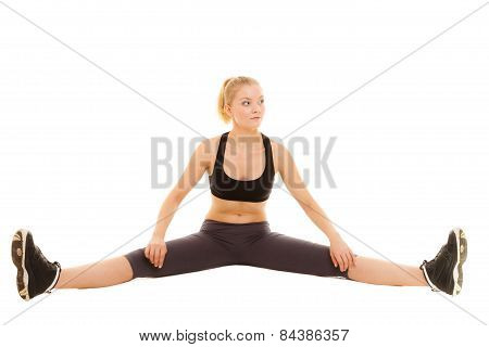 Woman In Sportswear Doing Stretching Exercise