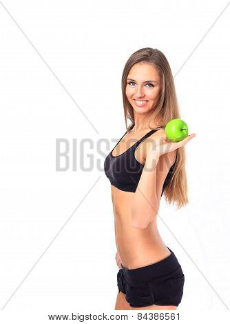 Healthy eating woman trying to lose weight