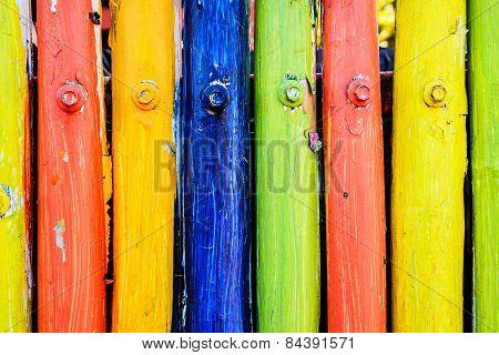 Multicolor Wood Wall