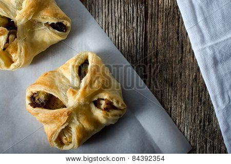 Vegetable Tarts Savory Baked In Pasty Dough