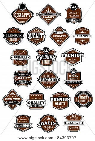 Vintage and retro wild west style labels