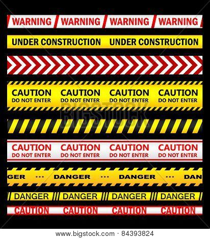 Warning, security and caution ribbons and tapes