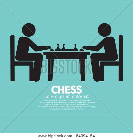 Chess Player Sign.