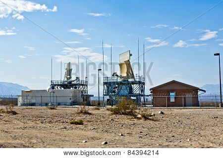 19: Radar Station In The Desert Near The Old Ghost Town And The Panamint Mountains