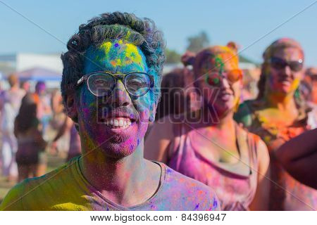 Unknown Man With Painted Face