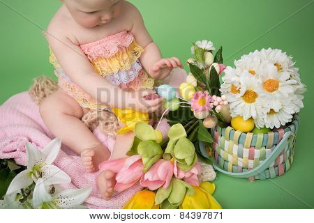 Baby In Easter Outfit, Easter Celebration