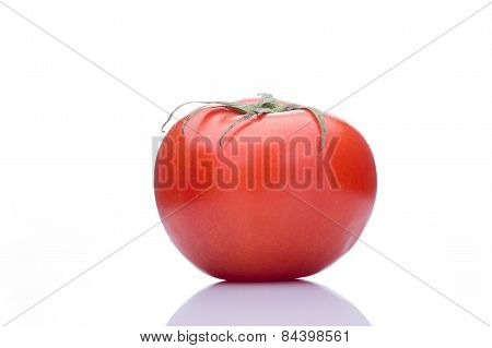 tomato with drops Isolated on white background