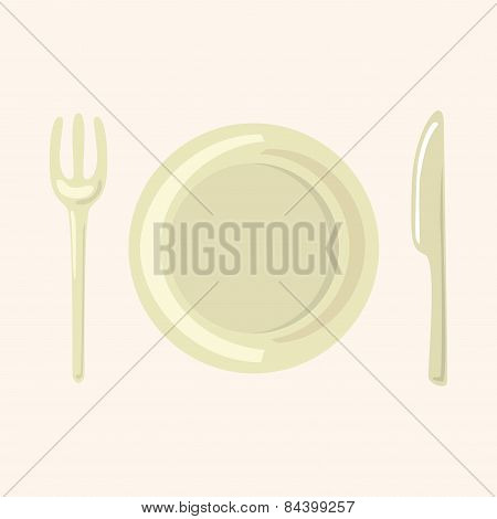 Tableware Theme Elements Vector,eps