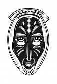 pic of african mask  - African tribal mask design with ethnic pattern - JPG