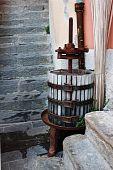 stock photo of wine-press  - Traditional small size wine press - JPG
