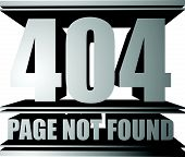 stock photo of not found  - Page not found 404 HTTP Header Code - JPG
