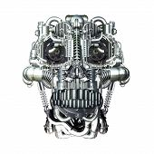 picture of homo  - Skull of many mechanical parts Homo Mechanicus - JPG