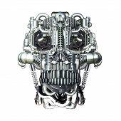 image of homo  - Skull of many mechanical parts Homo Mechanicus - JPG