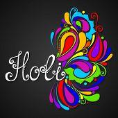 pic of holi  - Vector Ornate Holi Background - JPG