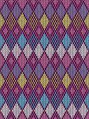 stock photo of knitting  - Style Seamless Knitted Pattern - JPG