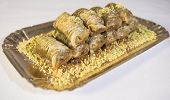 foto of baklava  - Traditional turkish sweets with pistachio - baklava ** Note: Soft Focus at 100%, best at smaller sizes - JPG
