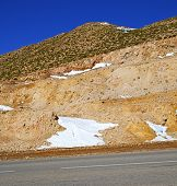 picture of atlas  - in africa morocco the atlas dry mountain ground isolated hill valley - JPG