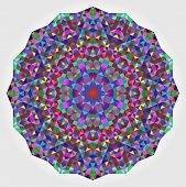 picture of color wheel  - Abstract Flower - JPG