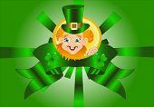 stock photo of animated cartoon  - Saint Patrick - JPG