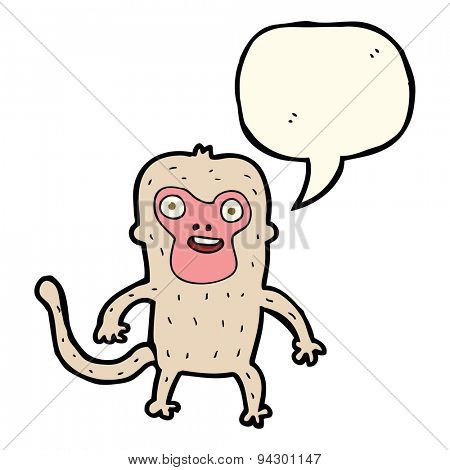 cartoon monkey with speech bubble